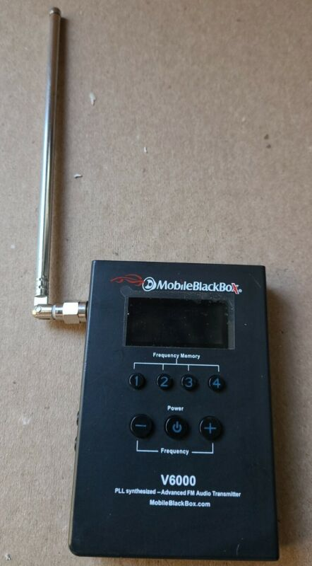 Mobile Black Box FM Audio Transmitter  V6000