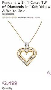 PENDANT WITH 1 CARAT TW OF DIAMONDS IN 10CT YELLOW & WHITE GOLD Noranda Bayswater Area Preview