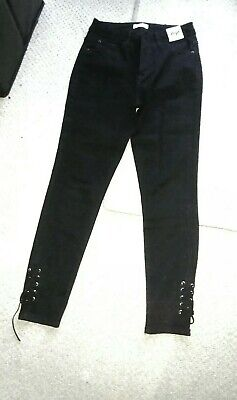 Black Kensie Jeans High Rise Skinny Stretchy  size 4/27 Petite Short leg. * NEW*