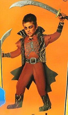 DEMON BOYS COSTUME Large Husky Halloween Red Scary Devil Child Kids Devil (Husky Kids Kostüme)