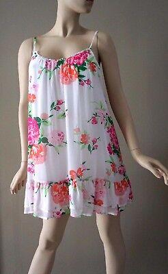 Abercrombie Fitch Women's Floral Mini Lined Sundress Size L