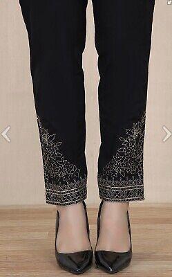 Black Kurta Trouser Pants Shalwar Small Bnwt Khaadi Chinyere Sana