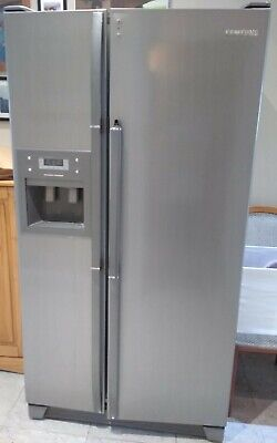 Samsung American fridge freezer with ice maker, Silver, Used