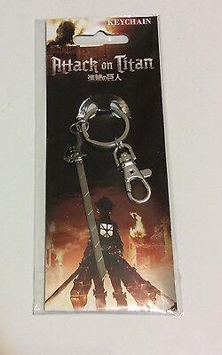 Attack On Titan  Shingeki No Kyojin  3 D Maneuver Metal Sword Keychain  Nip