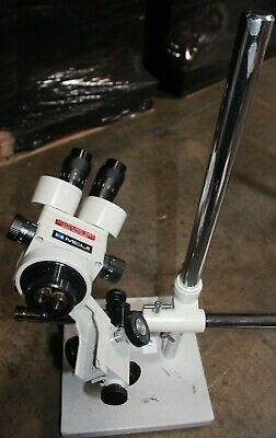 Meiji Emz Zoom Microscope Swf10x With Stand Used 1
