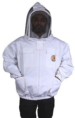 Professional Beekeeper Jacket-100 Cotton Beekeeping Jacket 4 Pockets S To 4xl