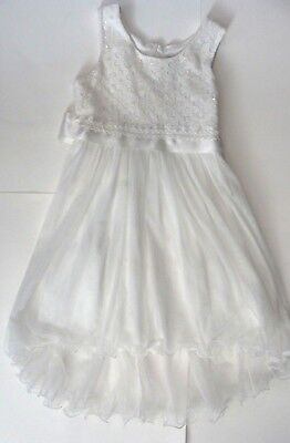 Special Occasions Girls Formal Dress White Wedding Communion Party Size 12 - Girl Formal Dresses Size 12