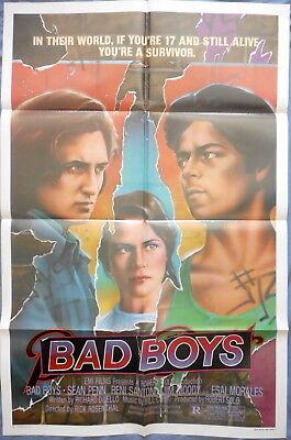 BAD BOYS MOVIE POSTER Sean Penn Thriller 1sht 1982