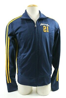 Abercrombie & Fitch Men's Track Jacket Size XL Navy Blue Yellow