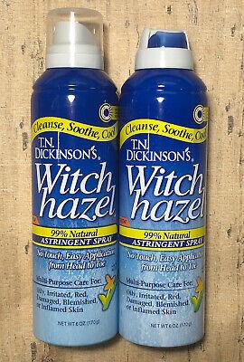 DICKINSONS WITCH HAZEL ASTRINGENT SPRAY 6 OZ Lot of 2 Dickinsons Witch Hazel Astringent