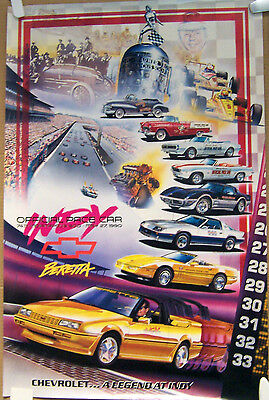 POSTER ~ 1990 BERETTA PACE CAR ~ INDIANAPOLIS 500