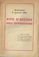 Modena_eccidio Del 1950_commissione D'inchiesta_relazione Terracini -  - ebay.it