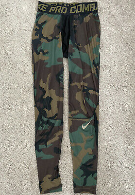 Nike Pro Combat Compression Base Layer Pants Camp Men's Size Medium