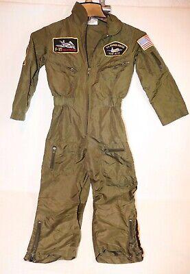 GET REAL GEAR Dress Up Pilot Flight Suit Air Force Jumpsuit Kids Size 4-6 Childrens Flight Suit