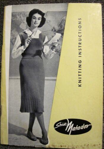 "Vintage ""Strick-Matador Handknitting Machine"" Instruction Manual"