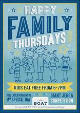 Happy Family Thursdays at The Boat Mindarie Wanneroo Area Preview