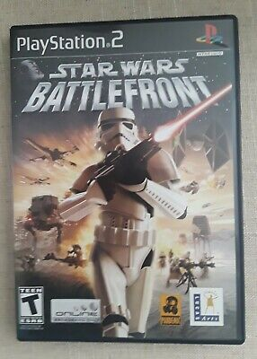 STAR WARS BATTLEFRONT PS2 Playstation 2.  Manual included.  Good condition