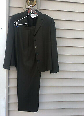 Casual Corner Annex Pant Suit Dark Green Size 14