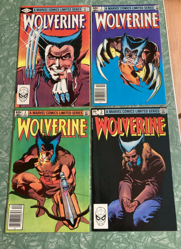 Wolverine Mini-Series #1-4 Complete 1982 Frank Miller Key Overall, NM Grade