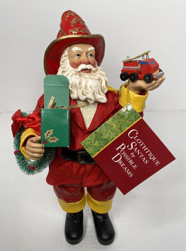 Vtg 1996 Santa Possible Dreams Clothique Chief Firefighter Three Alarm