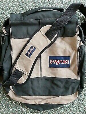 JanSport beige/black messenger bag fabric men