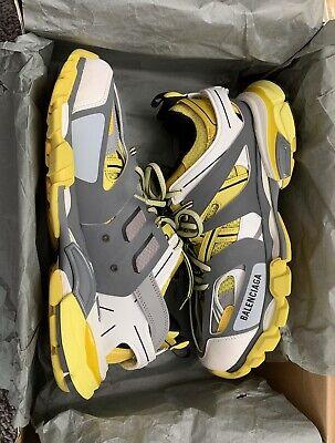 balenciaga track trainers yellow gray white Size US 12 EU 45