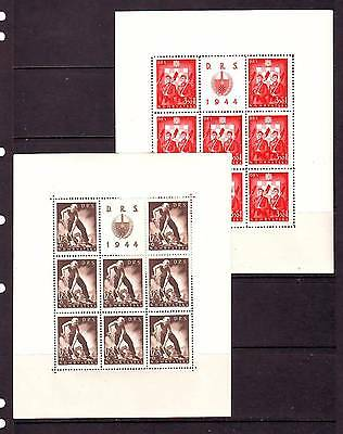 a121 - CROATIA - SG135-138 MNH 1944 LABOUR FRONT - SHEETLETS (8 SETS)