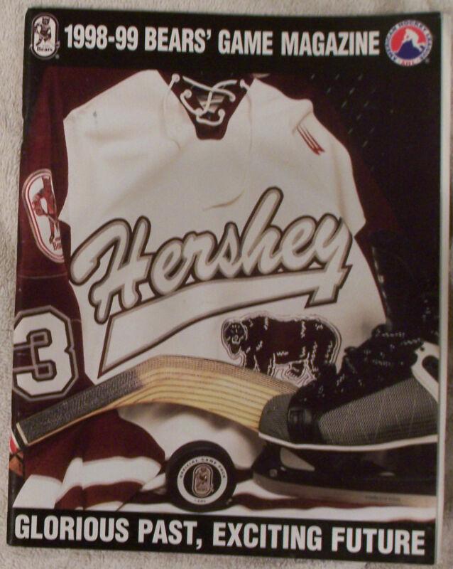 1999 Hershey Bears Vs Hartford Wolfpack Program 2-3-99
