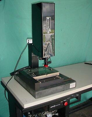 Micro-vu 8x6 Optical Comparator Video Measuring System Wtable Camera Amp