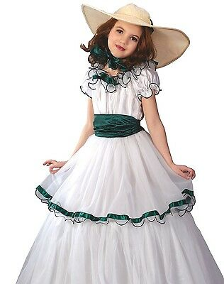 ett O'hara Costume Dress Child Girls Scarlet Ohara - S M L (Scarlett Ohara Kostüme)