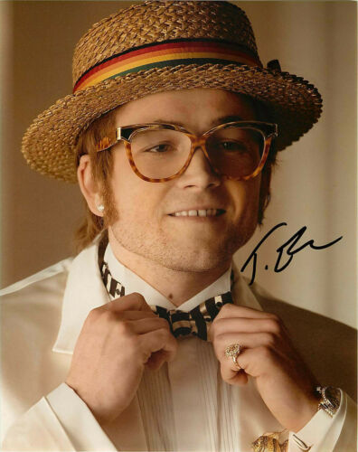 Taron Egerton Signed Elton John Rocketman 8x10 Photo C EXACT Proof COA Kingsmen