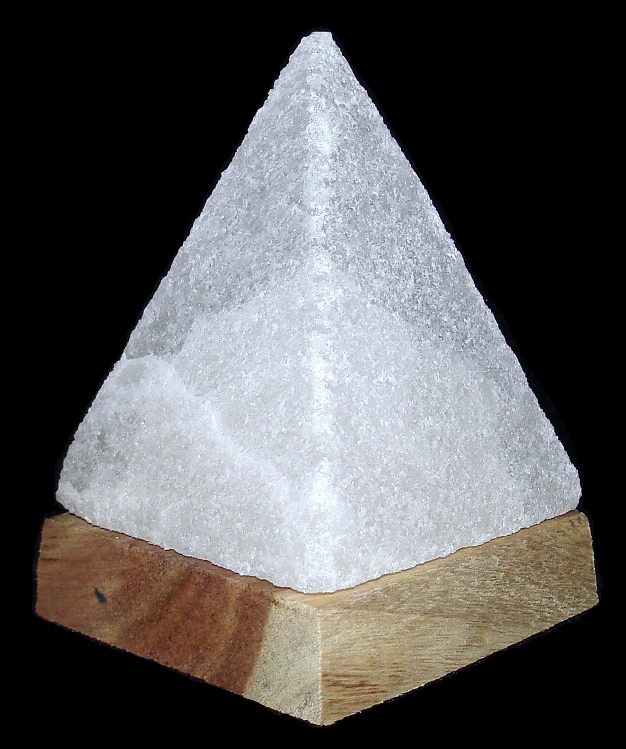 Himalayan Salt Rock Lamp Desk Pyramid W Led Light Usb