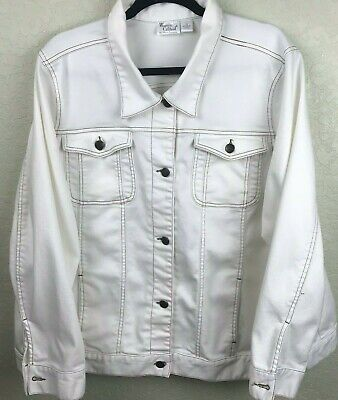 Women with Control Woven Twill Jacket Long Sleeve White QVC Stretch  - Stretch Woven Jacket