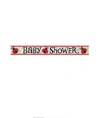 """LIVELY LADYBUG"" BABY SHOWER 12 FT FOIL BANNER Party Supplies Decoration - Ladybug Baby Shower"