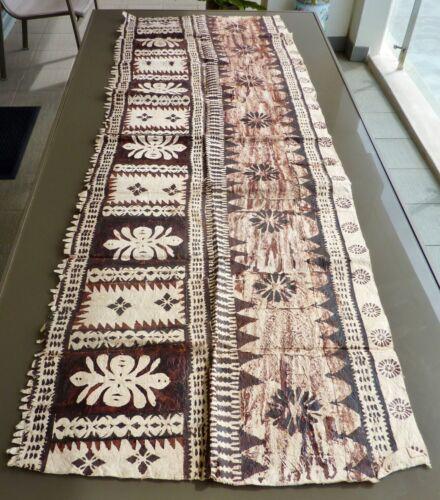 2m FIJIAN bark handmade TAPA use TABLE CLOTH WALL-HANGING runner CRAFT art piece