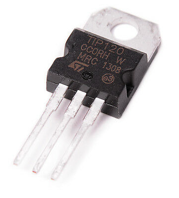 5x Tip120 Npn Bjt St Darlington Transistor To-220 For Arduino With Free Diodes