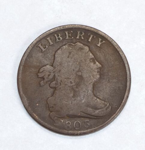 1803 Draped Bust Half Cent VERY GOOD 1/2c