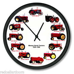 New MASSEY HARRIS Wheel Dial Tractor Wall Clock 1929-1958 10 12 VintageTractors