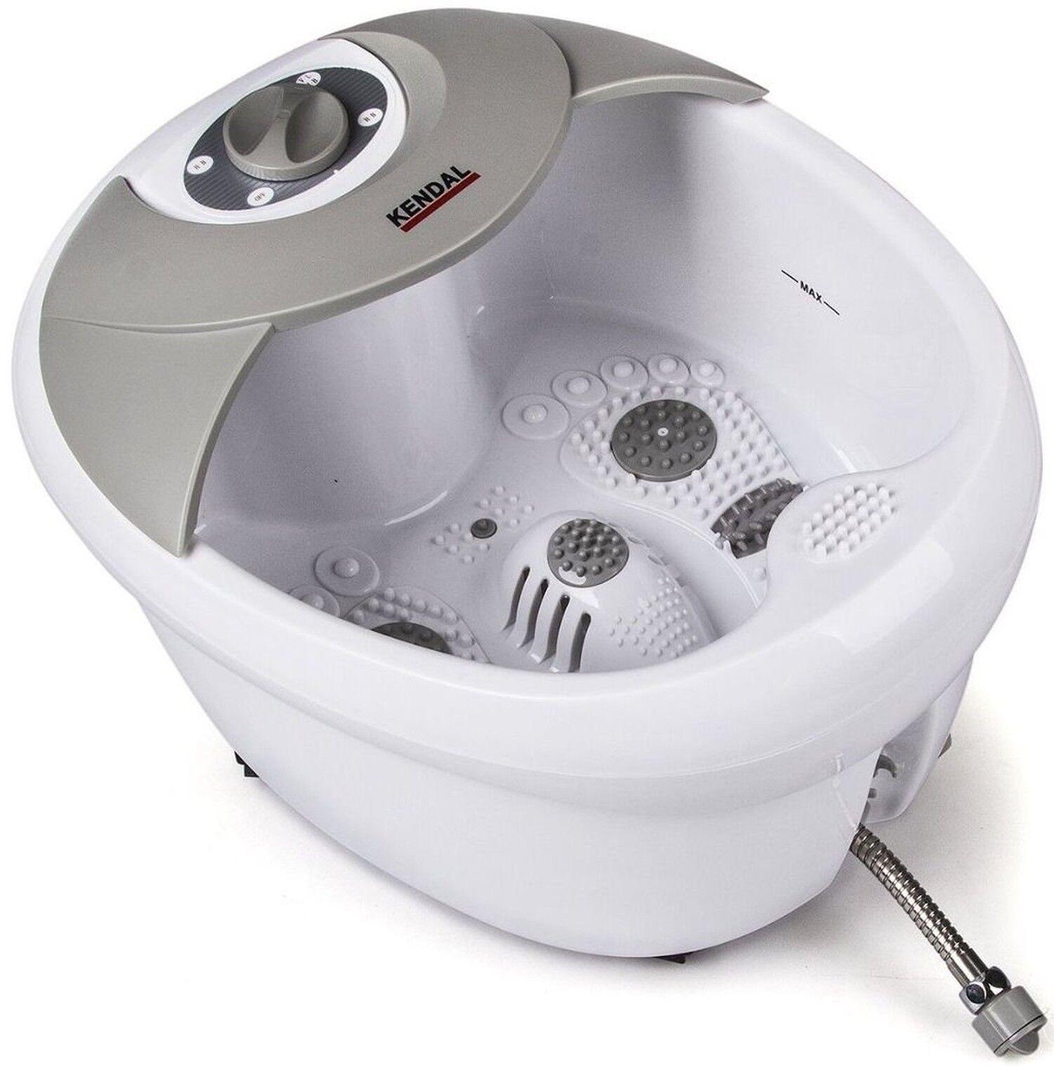 Foot Spa Bath Massager Heat Vibration Infrared Feet Massa...
