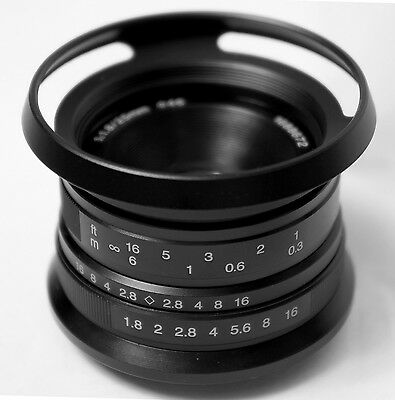 7artisans 25mm F1,8 schwarz manueller Fokus LENS f / Canon EOS EF-M Kamera