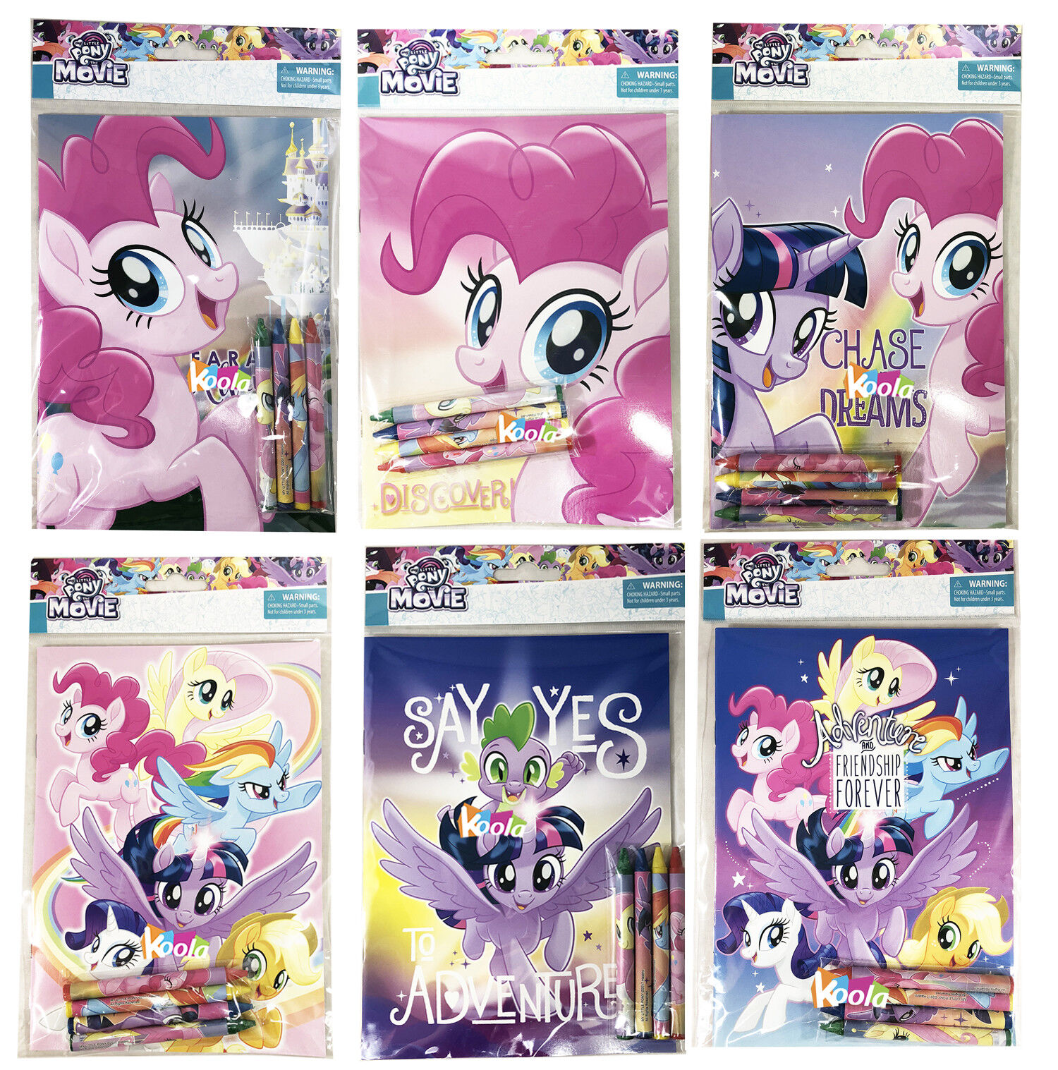 My Little Pony Coloring Book Super Set with Crayon Party Fav
