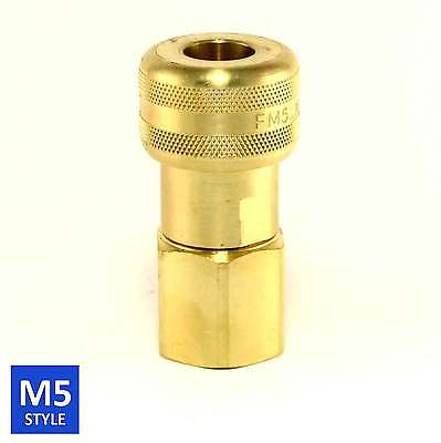 Foster 5 Series Brass Quick Coupler 12 Body 34 Npt Air Hose And Water Fittings