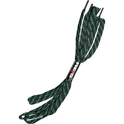 Schnürsenkel 1 Paar Flachsenkel Arbeitsschuhe ca. 120 cm Schwarz Grün