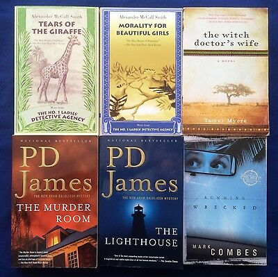 LOT OF 6 INTERNATIONAL MYSTERIES- TPB- Alexander McCall Smith, P.D. James ++