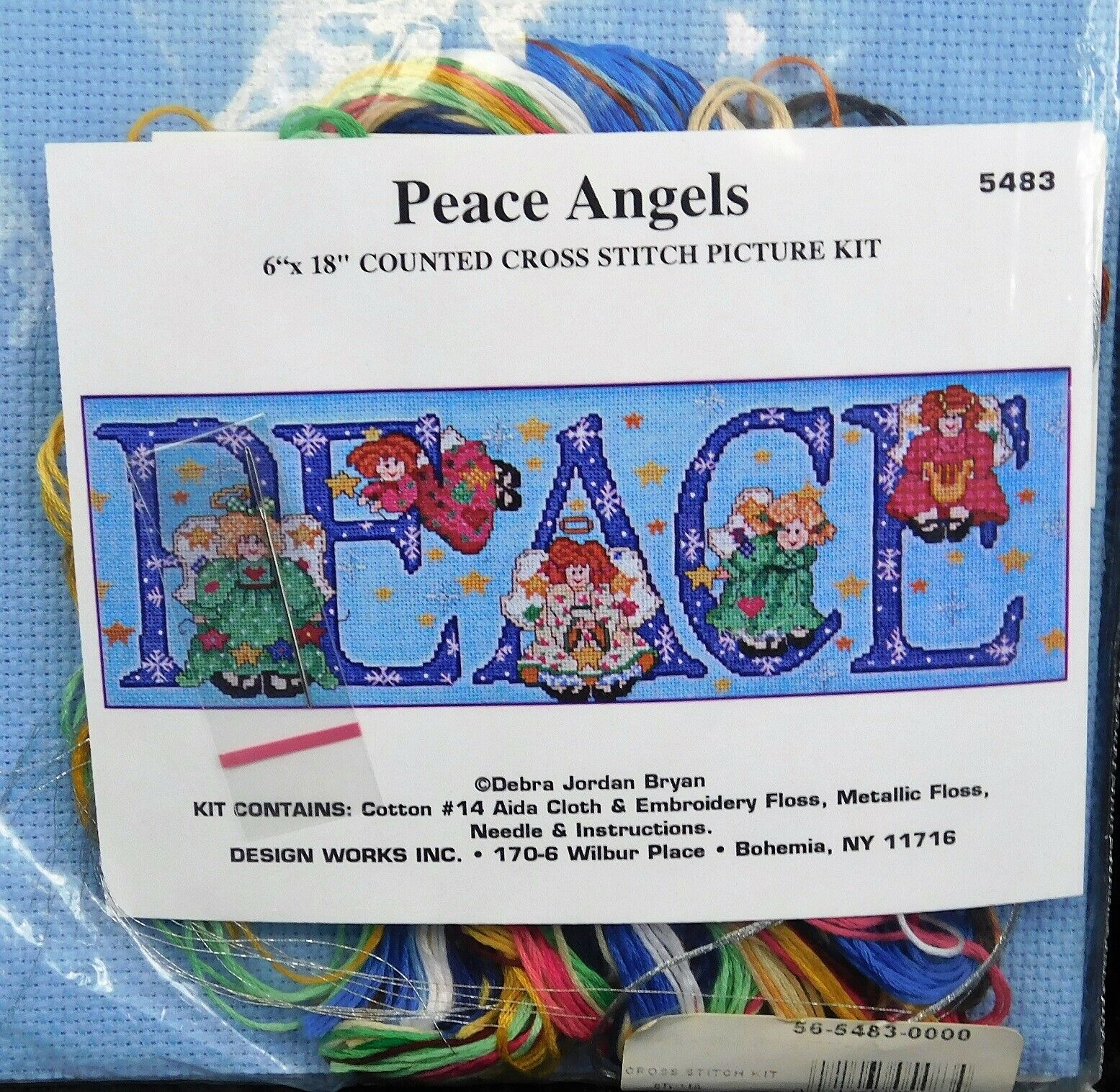 Sealed! PEACE ANGELS CHRISTMAS PICTURE #5483 Design Works CR