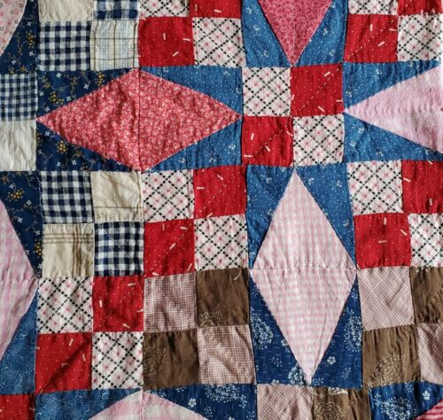 Beautiful Doll Size Quilt With Early 1900