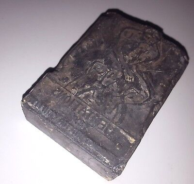 Old Print Block Rodin Thinker Book Cover Meditations By Lawrence Rector Griffith