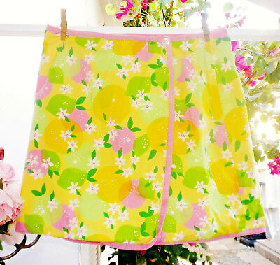Rare Lilly Pulitzer Wrap Skirt Orange Blossom Floral Citrus Reversible Applique