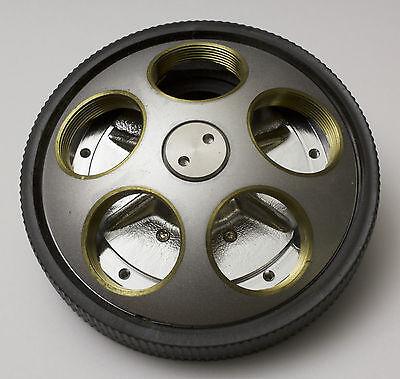 Nikon Optiphot Microphot 5 Objective Rms Nosepiece Turret Quintuple