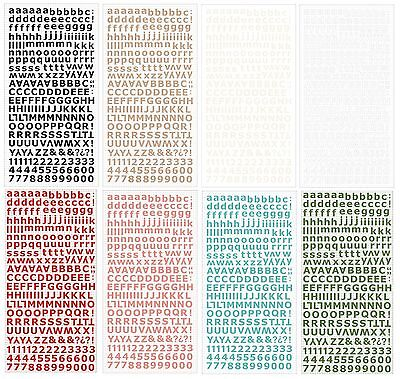 Kaisercraft Cardstock Alphabet Stickers (8 Colours Available)